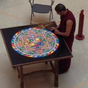 Construction of Sand Mandala
