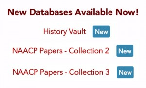 New Databases Available Now