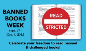 Banned Books Week - image art thanks to ALA