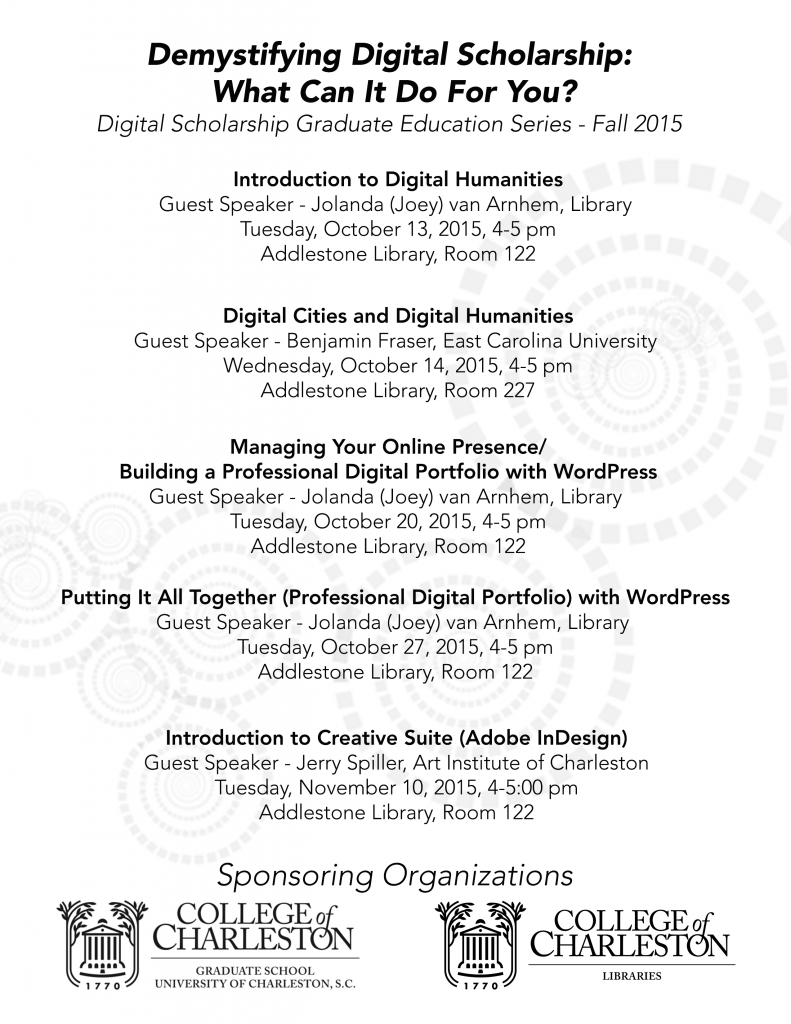 DigitalScholarshipSeries_Fall2015_Flyer