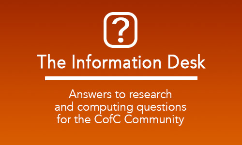 CofC Libraries Information Desk provides research and computing support for the CofC Community.