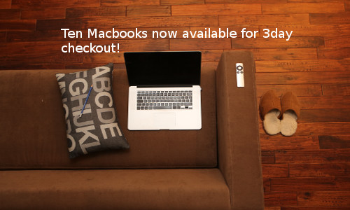 Macbooks for 3-day checkout
