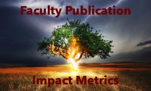 Faculty Publication Impact Metrics Graphic