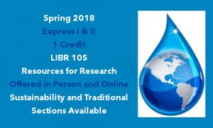 LIBR 105 Spring 2018