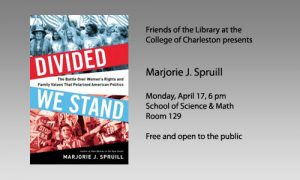 FOL Marjorie J. Spruill event, April 17, 6 pm, School of Science and Math Room 129