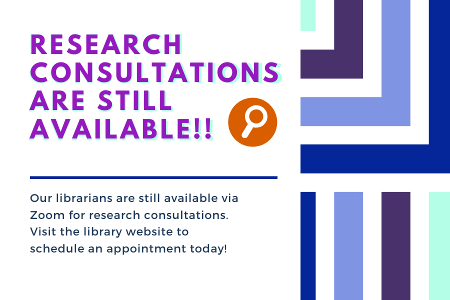 Research Consultations Still Available