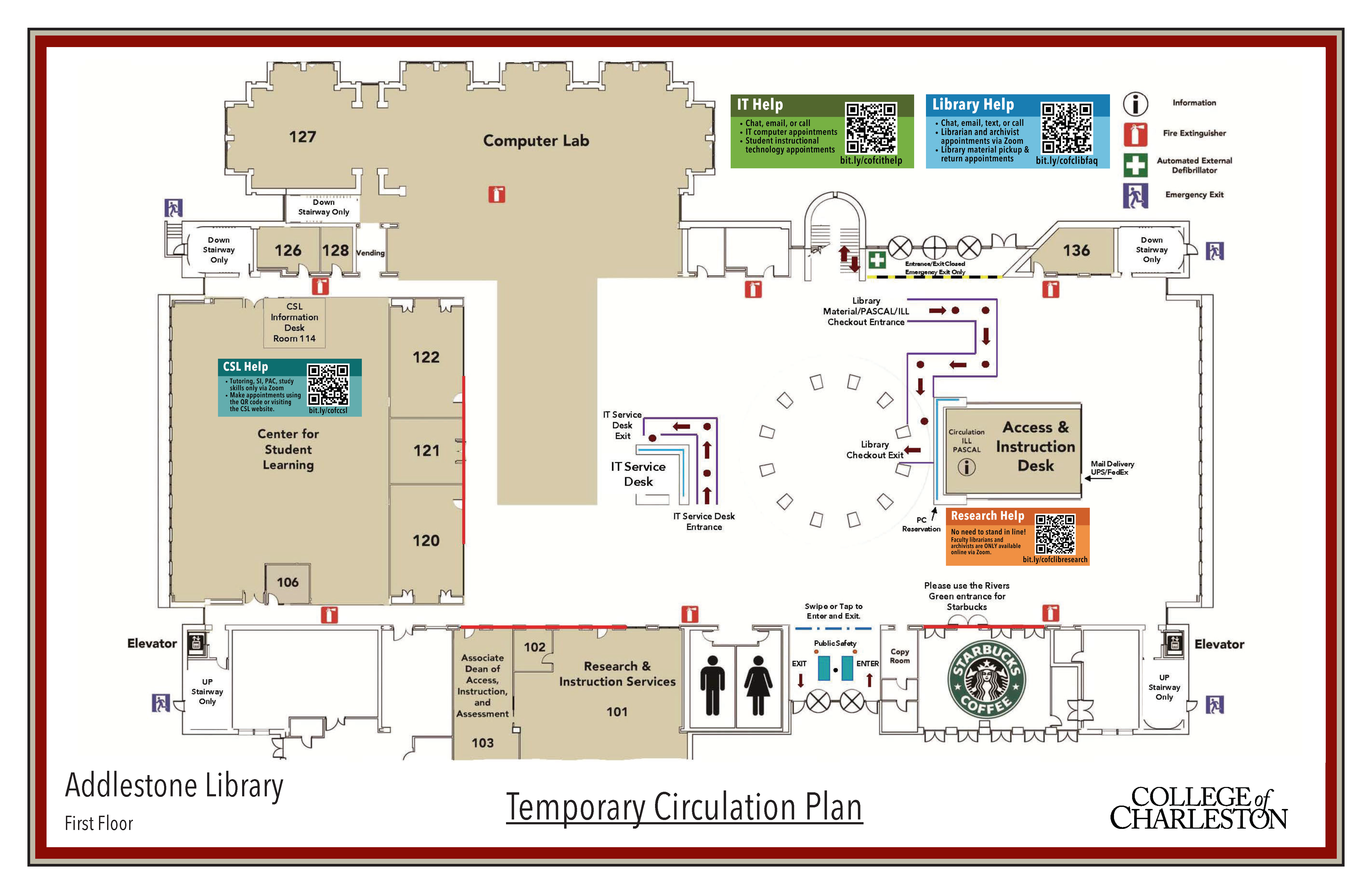 Library Temporary Circulation Plans 1