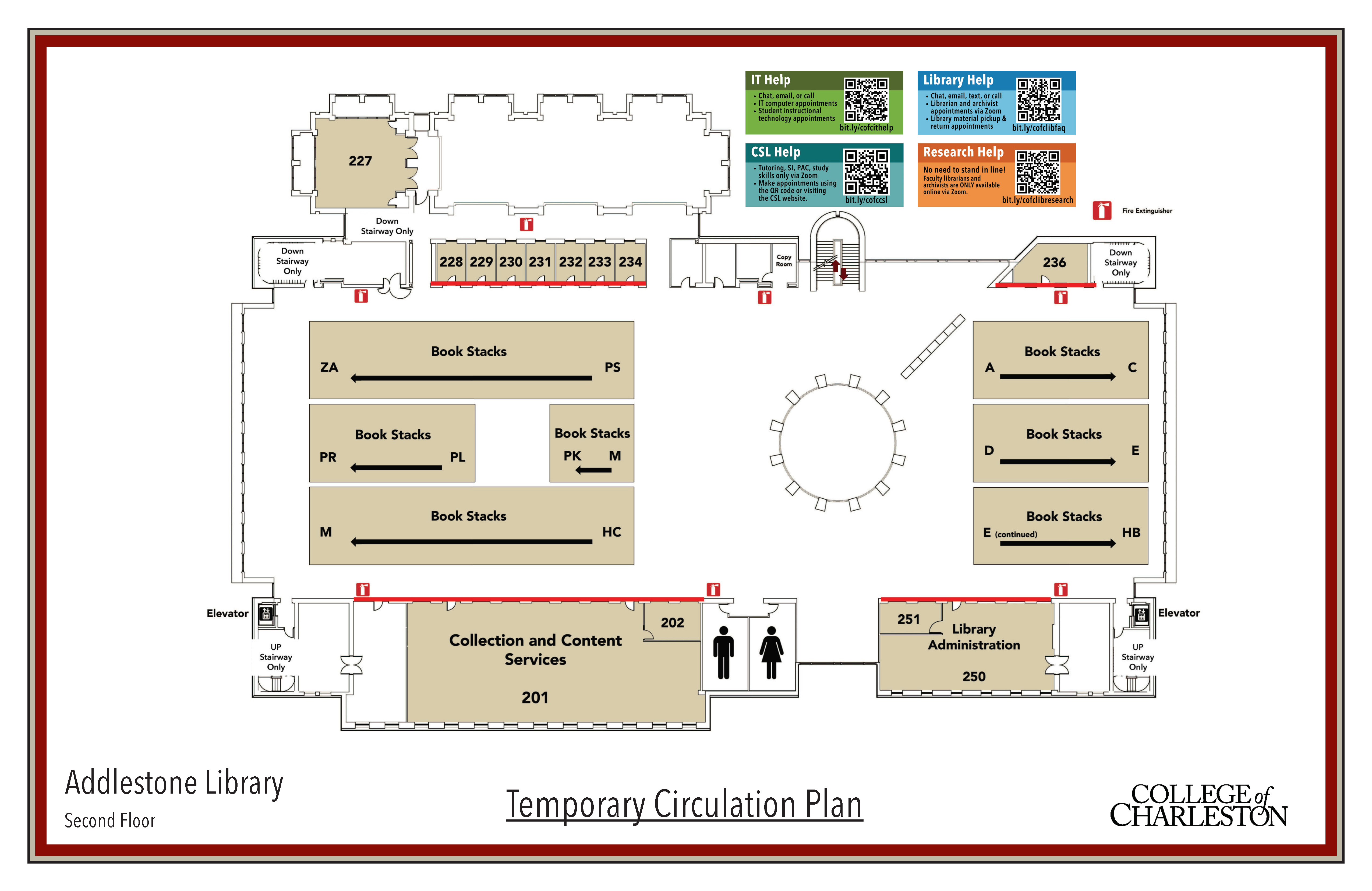 Library Temporary Circulation Plans 2