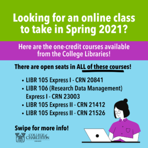 Spring 2021 Library Courses