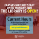 Spring 2021 Library Hours
