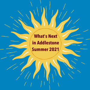 Sun Graphic for What's Next in Addlestone Summer 2021