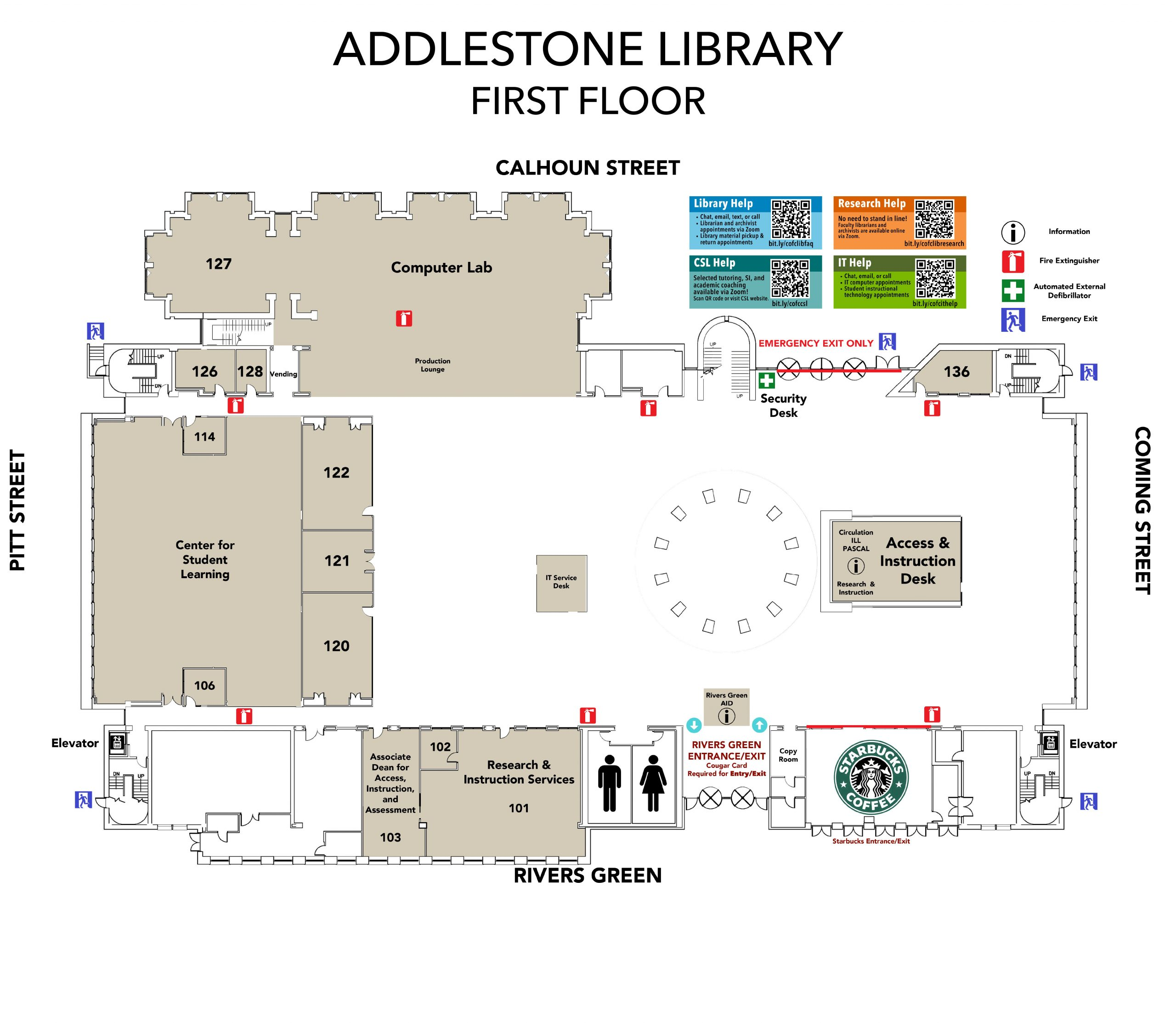Addlestone Library Floorplans Level 1