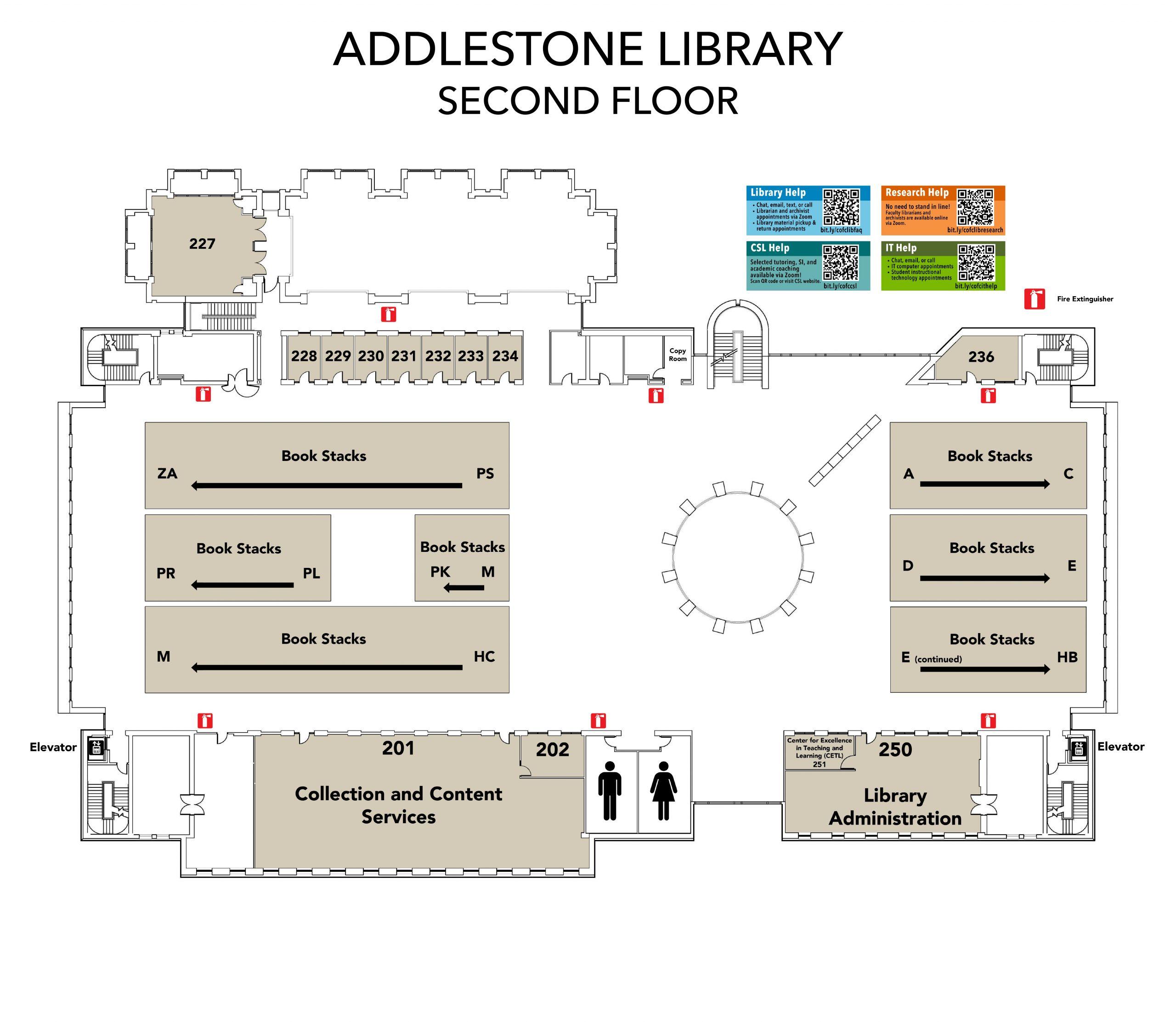 Addlestone Library Floorplans Level 2