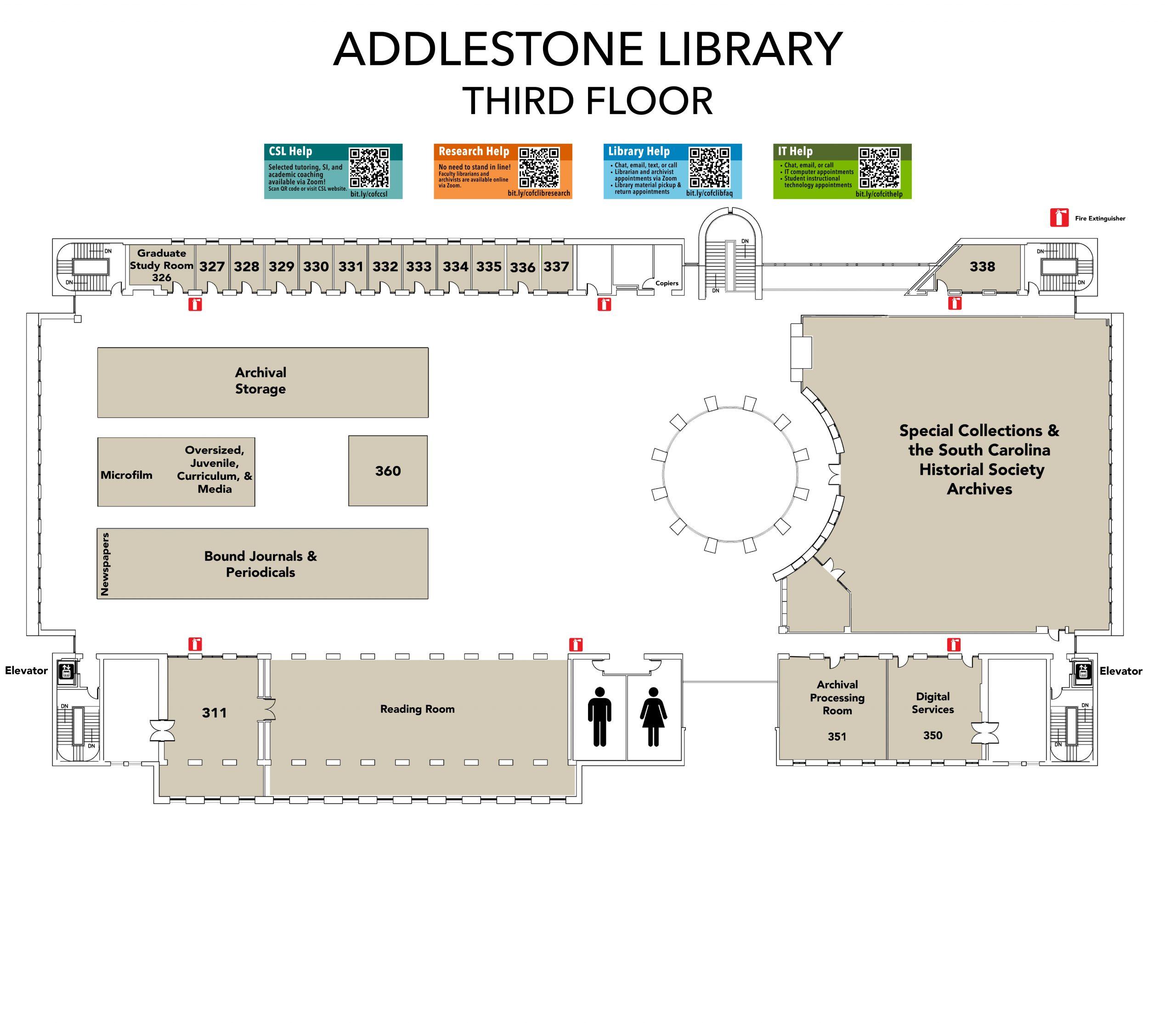 Addlestone Library Floorplans Level 3
